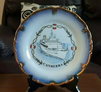 Ss Canberra Collectors Plate 25Cm Sold By Allders Dept Store Uk