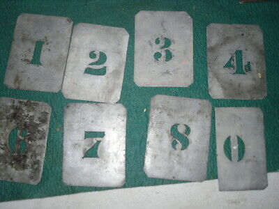 Vintage TIN Metal STENCIL Numbers    1 to 0