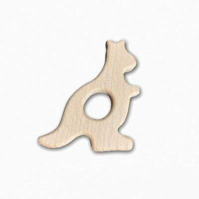 Wooden Kangaroo Teether Ring