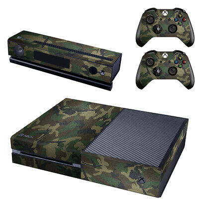 Army Camo Console SKIN + 2 x Controller Stickers Decal for Xbox One FacePlate