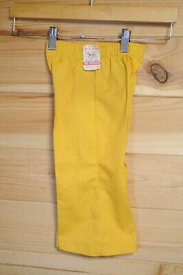 Vtg NOS Children's 1970's Yellow Flares by Buster Browns Size 2 18 Month