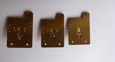 3 Vintage Platform Escapement Plates-  Clock Parts,