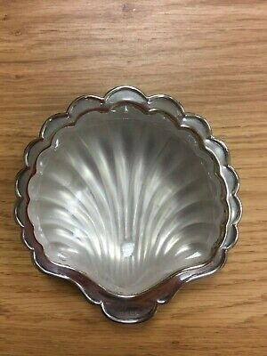 Vintage EPNS Shell Dish with Glass insert