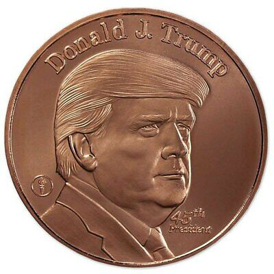 President Trump 100% Copper Round Coin ~ These Are Beautiful ~ Free Shipping