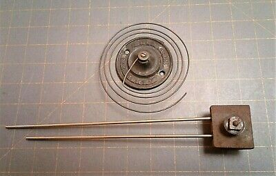 2 Antique Clock Chimes F. Kroeber Coil Strike Gong w/ 2 Rod Steel Chime Weighted