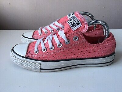 CONVERSE ALL STAR ladies pink low top trainers size 5.5