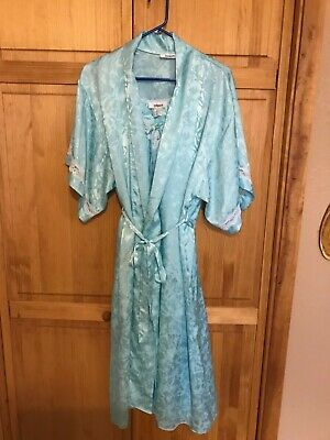 Vintage The Dynasty  Collection  Robe n Gown Set  Blue/aqua  Small