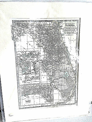 Reproduction 1897 Dated Map of Florida  Mint Condition Century Atlas Company