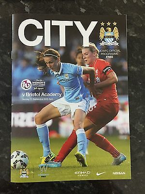 Man City Womens V Bristol City Academy 27.09.2015 ** Mint **
