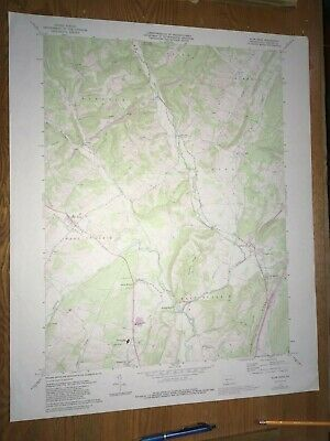 Alum Bank Pa. Bedford USGS Topographical Geological Survey Quadrangle Old Map