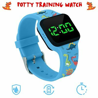 Potty Training Timer Watch with Flashing Lights and Music Tones - Water Resis...