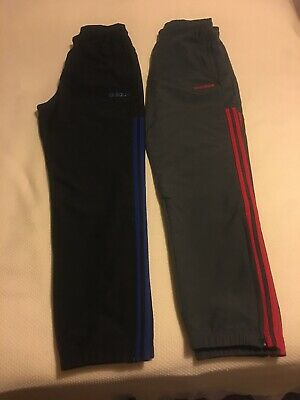 Mens Adidas Black Tracksuit Bottoms M Bundle of 2 Black Dark Grey