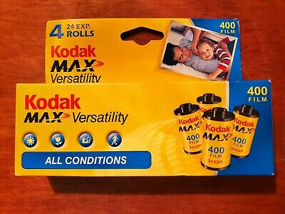 Expired Film Kodak MAX, 35mm film good for lomography. 4 rolls 400 ISO x 24 exp.