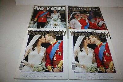 Prince William and Kate Wedding Magazines x 4