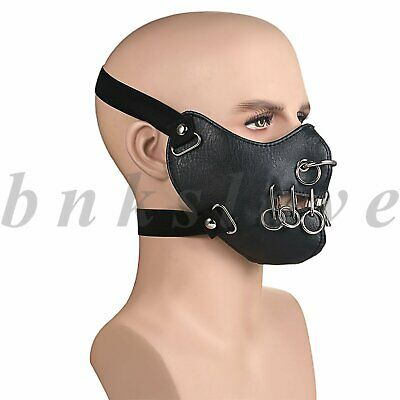 Punk Leather Breathable Motorcycle Biker Anti-Dust Half Face Mouth Cover Shield