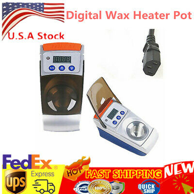 110V 60W One-Slot Wax Melter Wax Warming Pot Dipping Melter For Dental Lab US