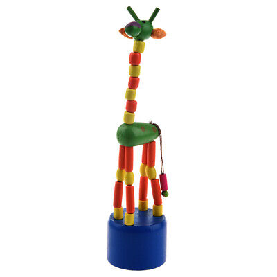 Kid Developmental Toy Baby Dancing Rocking Standing Colorful Giraffe Wooden Toys