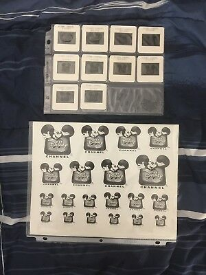 Mickey Mouse Disney Channel Network Logo Projector Slides, Winnie Pooh, Goofy,