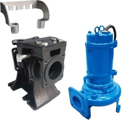 "Shredder Pump & Slide Rail - Submersible - 4"" Out - 320 GPM - 230 V - 3 Ph - 3HP"