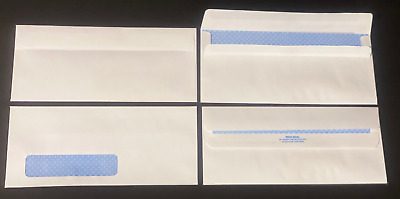 #10 24# White Security Tinted Flip & Seal Window Envelopes - Various Quantities