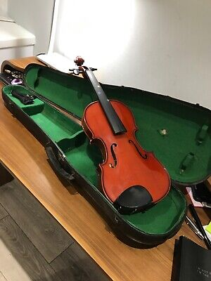 Used Unstrung Stentor Student 2 Violin Full Size (no Bow) In Tatty Old Case