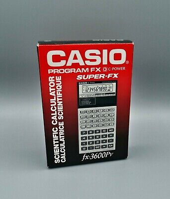 Calculadora Casio fx-3600Pv program fx , Calculadora vintage, antigua año1989 1