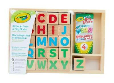 NEW Crayola Alphabet Colour & Play Blocks from Mr Toys