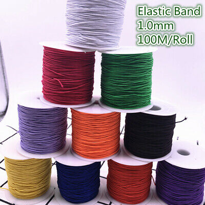 100M/Roll 1mm High Elastic Round Elastic Band Rubber Band Elastic Cord Diy Craft
