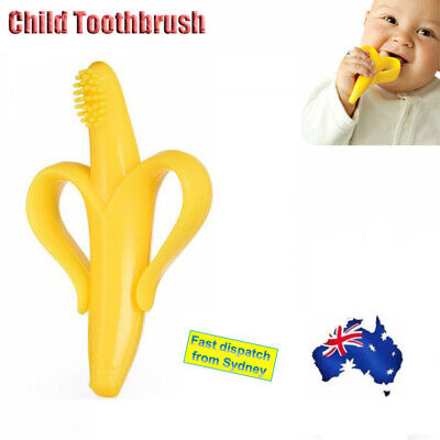 Baby Toothbrush Portable Silicone Molar Safe Teether AU