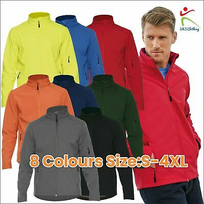 Mens SF001 Water Resistant Windproof Soft Shell Jacket Workwear Leisure Outdoor