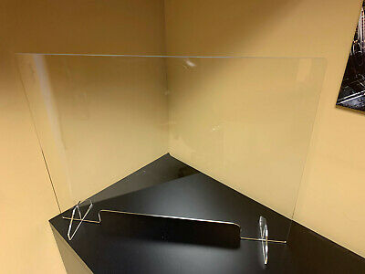 SNEEZE GUARD  Acrylic Plexiglass Table Desk Checkout counter Shield 24H x 32W