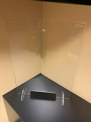 SNEEZE GUARD  Acrylic Plexiglass Table Desk Checkout counter Shield 32H x 24W