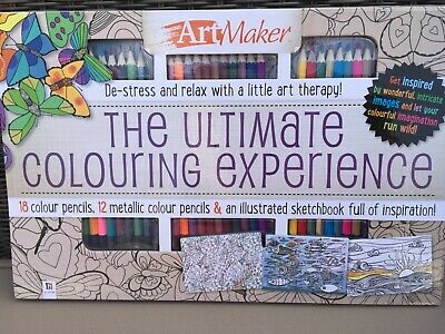 Art Maker Ultimate Colouring Experience Coloring Book  Relax De-Stres