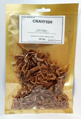 💯 % Authentic Nigerian Smoked Dried Whole Crayfish 30 g