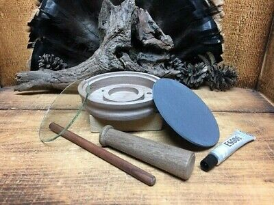 "1 Pc  3 1//4/"" Slate  Pre-cut  Disc for Friction Turkey Calls  Build Your Own"