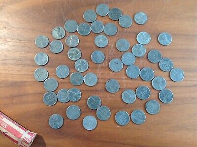 50 COINS nice coins 1943-S LINCOLN STEEL WHEAT CENT PENNY ROLL