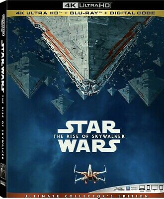 Star Wars:the Rise Of Skywalker(4K Ultra Hd+Blu-Ray+Digital)W/Slipcover New