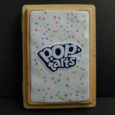 Pop Tarts Pastry Holder Case White Frosted Sprinkles Container Kellogg 2004