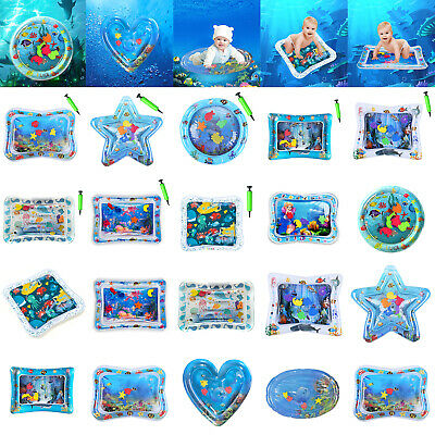 Inflatable Water Mat Baby Infant Toddlers Mattress Splash Playmat Toy Tummy Time