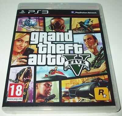 * GRAND THEFT AUTO V * Sony Playstation 3/PS3 Game * GTA 5 * NEW CASE/MINT DISC