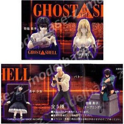Ghost In the Shell GASHAPON Figure Complete Set + Duplication Motoko etc Vintage