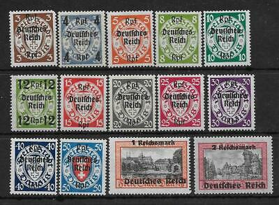 Germany Third Reich Mi #716-729 Stamps of Danzig Overprints MNH **