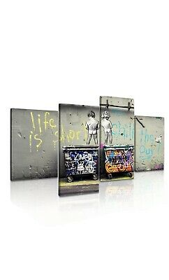 Banksy Life Is Short Chill The Duck Out Canvas 4 Piece