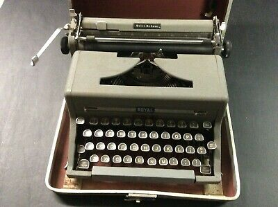 Vintage Royal Portable Typewriter Quiet Deluxe with Case