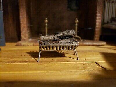 Dollhouse Miniature Raging Fireplace or Camping Fire Logs  Doll House Miniatures
