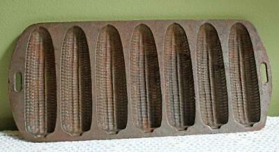 Antique Cast Iron Corn Shaped Cookie Baking Mold