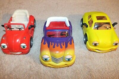Lotof (3) Chevron Cars Hank Hot Rod, Tina Turbo and Rudy Ragtop - Pre-Owned