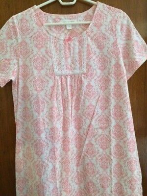 New With Tag Carole Hochman Womens Short Sleeve Nightgown Size Small