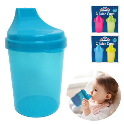 4PC Kids Juice Cups with Lids Toddler Trainer Sippy Cup BPA Free Drinking Bottle