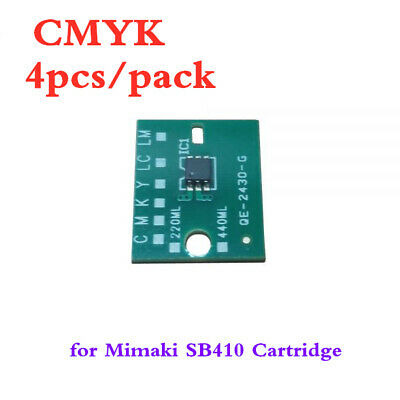 CMYK Generic One-time Chip for Mimaki SB410 Cartridge